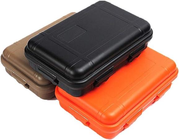 Dilwe Caja de Almacenamiento de Supervivencia de Pl/ástico Caja de Contenedor a Prueba de Golpes para Actividades al Aire Libre Naranja S