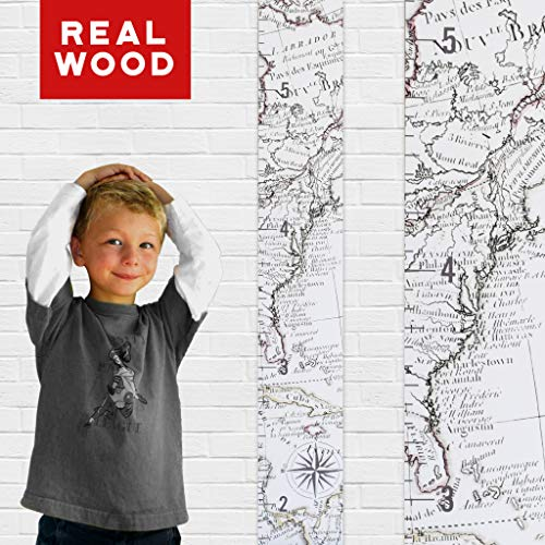 ooden Map Growth Chart for Kids [Boys and Girls] – Children's Room Décor Height Chart in 2 Fun Designs – East Coast and West Coast (East Coast White) (Personalized Adult Wood Baseball Bat)