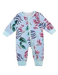 XARAZA Newborn Infant Baby Boys Girls Zipper Romper Jumpsuit Outfits Clothes