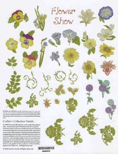 (OESD Embroidery Machine Designs CD #866 FLOWER SHOW)
