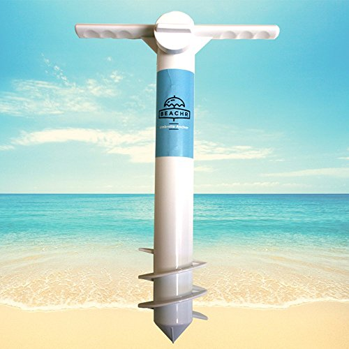 (Beachr Beach Umbrella Sand Anchor, One Size Fits All, Safe Stand for Strong Winds)