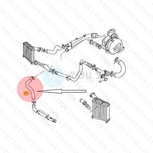 7L0145737 50//50 mm Turboschlauch Ladeluftschlauch Innendurchmesser ca