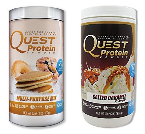 Misión nutrición proteínas polvo Pack 2 - Mix de usos múltiples / sala caramelo - 2 lb.