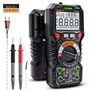 #LightningDeal KAIWEETS Digital Multimeter TRMS 6000 Counts Ohmmeter Voltmeter Auto-Ranging Fast Accurately Measures Voltage Current Amp Resistance Diodes Continuity Duty-Cycle Capacitance Temperature(LED Jacks)