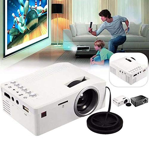 YIGEYI Full HD 1080P Home Theater LED Multimedia Projector Cinema USB TV HDMI (Color:Black/White) The Perfect one for You (Color : Black, Size : EU Plug) from Generic