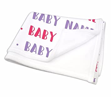 Amazon personalised baby blanket baby name all over nursery personalised baby blanket baby name all over nursery blankets baby shower gifts negle Choice Image