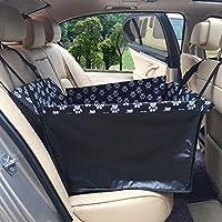 ENLAN シートカバー 車用ペットシート 後部座席用 高品質 防水 滑り止め 折り畳み式 ジッパー付 汚れに強い 清潔簡単 中 小型犬用 ペットおでかけ用品