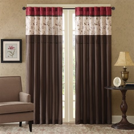 "Serene Window Curtain Red 84"" Panel"
