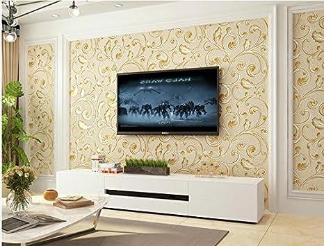 Camera Da Letto Color Champagne : Xzzj il soggiorno a parete per tv sullo sfondo della carta moderna