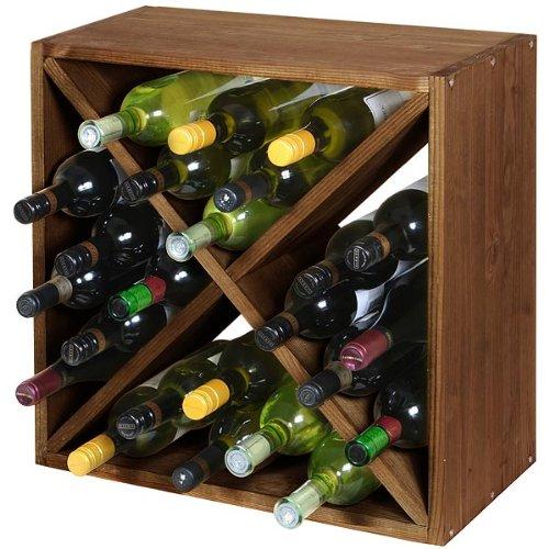 Wine Cellar Cube Dark Oak 300mm - 24 Bottle | Wooden Wine Rack, Wine Storage, Wine Cube by The Traditional Wine Rack Co by The Traditional Wine Rack Co