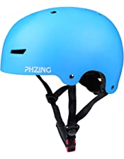 PHZING Skateboard Helmet Ideal For Urban Skateboard/Scooter skate/inline skating with adjustable headband suitable for adult/kids/youth