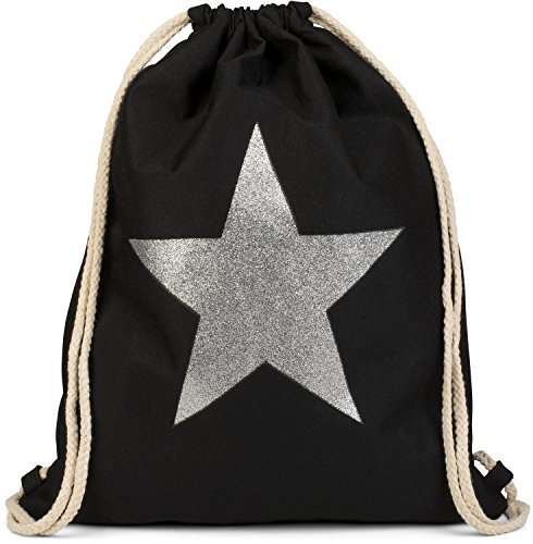 gym jeans 02012195 styleBREAKER Silver star with gray bag rucksack style color Black bag dark glitter street Mottled unisex sports bag silver 15dqpnxdwg