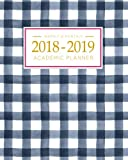 #5: 2018-2019 Academic Planner Weekly And Monthly: Calendar Schedule Organizer and Journal Notebook With Inspirational Quotes And Gingham Cover (August 2018 through July 2019)
