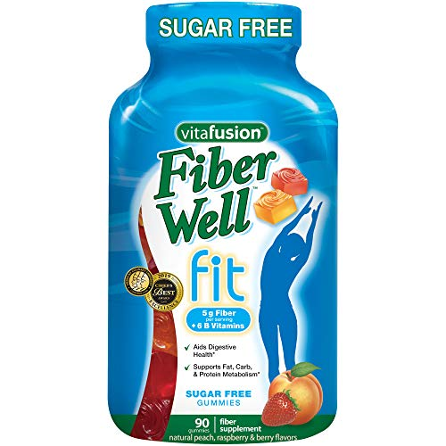 Vitafusion Fiber Well Fit Gummies Supplement, 90 Count (Packaging May Vary) ()