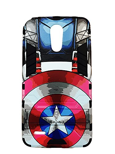 Lg Stylo 3 Stylus 3 Stylo 3 Plus Marvel Captain America Style Case With Kickstand For Boost Mobile   Metropcs   Sprint   T Mobile