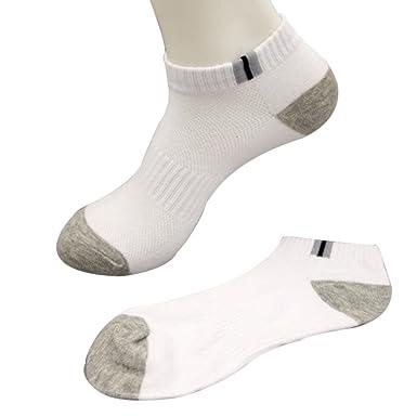 OVINEE Calcetines deportivos de algodón para hombres, calcetines cortos, tobilleros, deportivos, zapatilla, transpirable, fitness, tenis, correr, ...