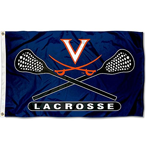 UVA Cavaliers Large Lacrosse 3x5 College Flag by College Flags and Banners Co.
