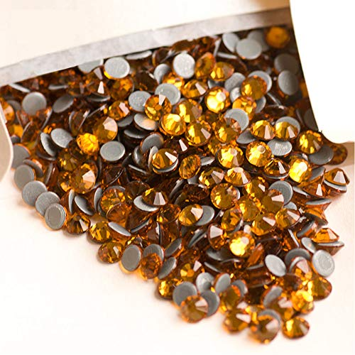 Facerain Flatback Hotfix Rhinestones Crystal Iron on Glue Glass Stones SS6-SS30 (Topaz, SS30)