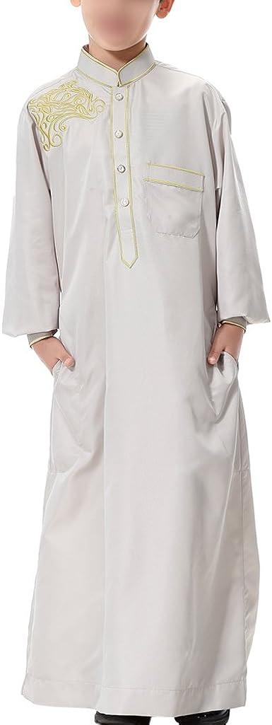 Hzjundasi Niños Chicos Manga Larga Kurta Color Puro Saudi ...