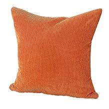 Changeshopping Cotton Corduroy Cushion Cover Decorative Sofa Home Throw Pillow Case (Orange)