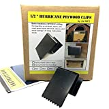 "1/2"" Hurricane Plywood Clips to Shutter Windows, Spring Grade Carbon Steel - 20 Pack"