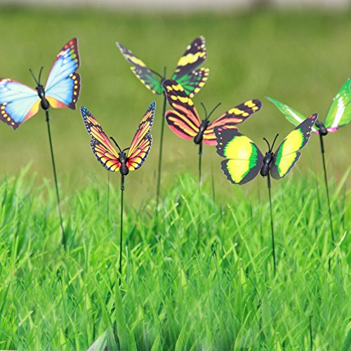 Lebeila butterfly garden ornaments patio d cor butterfly for Outdoor butterfly decor