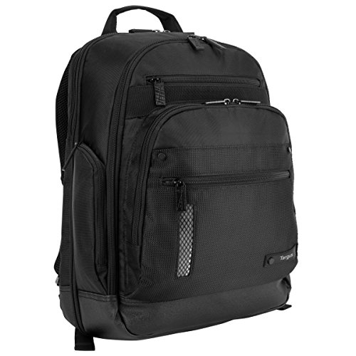 Targus Revolution Travel and Checkpoint-Friendly Laptop Backpack with Protective Sleeve for 14-Inch Laptop and Felted Phone Pocket, Black (TEB012US) (Felted Notebook)