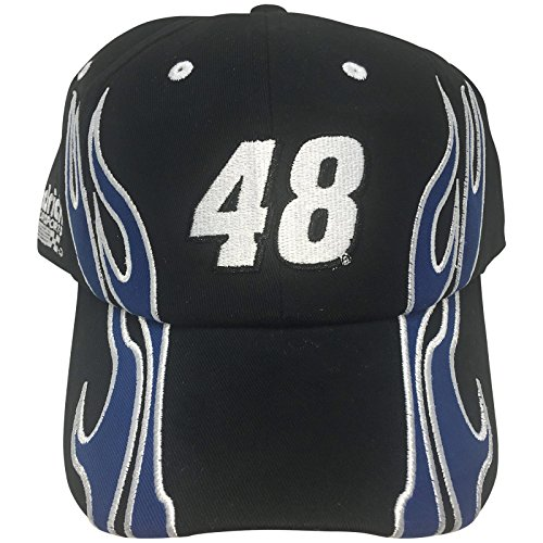 NASCAR Jimmie Johnson #48 Flames Youth Adjustable Cap Hat - Jimmie Johnson Cap