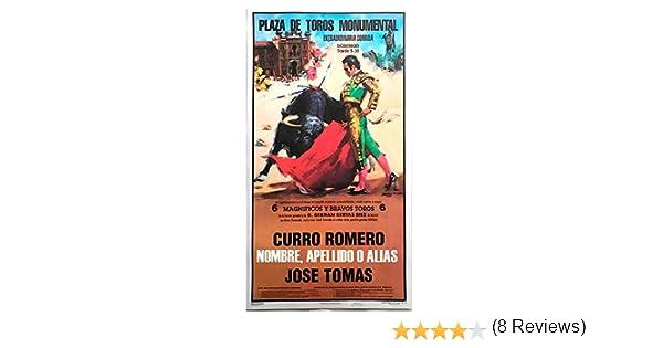 Cartel de toros con un nombre personalizable - C. Rincón/El Juli