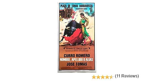 Cartel de toros con un nombre personalizable - Curro R. / José Tomás: Amazon.es: Juguetes y juegos