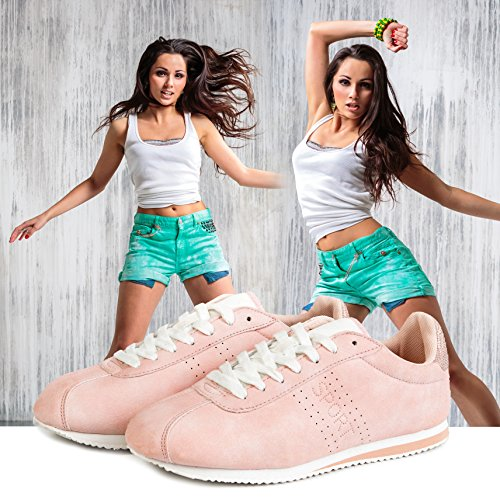 Agsdon Womens Sneakers Casual Fashion Breathable Lightweight Sport Shoes Pink(01) JmM3uOl