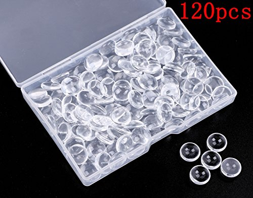 Glass Cabochon Photo - Shapenty 12MM Clear Round Glass Cabochons Dome Tiles for DIY Craft Photo Charms, Cameo Pendants, Rings, Necklace and Jewelry Making, 120PCS