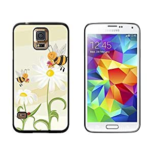 New Style Bumble Bees and Ladybugs on Daisies - Flowers - Snap On Hard Protective Case for Samsung Galaxy S5 - Black wangjiang maoyi