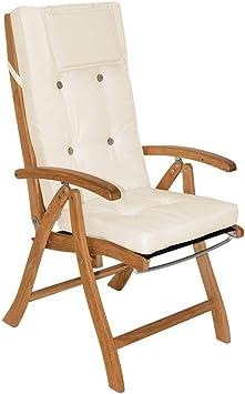 pour chaises Haut 6x beige Coussins épaisseur 7cm Vanamo dossier 8vNOw0mn