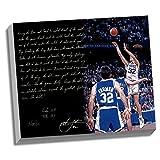 NCAA Duke Blue Devils 22x26 Christian Laettner Facsimile 'The Shot' Story Stretched Canvas
