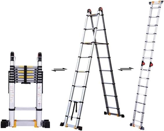 XEWNEG Escalera telescópica Multifuncional Escalera telescópica de Aluminio Uso múltiple para Trabajo Pesado Máx. 330 lbs - Fácil de almacenar y fácil de Transportar (Size : 2+2m=4m(13.1ft)): Amazon.es: Hogar