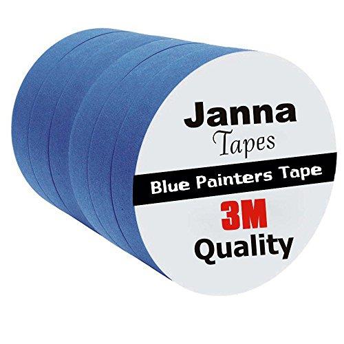 6 Rolls 0.94 in. x 60 yard Blue Painters Tape, 14 Days UV Resistance No Residue … 14 Day Blue Painters Tape