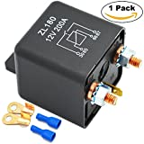 Ehdis® 12V 200A Relays Car Truck Motor Automotive Boat Car Starter Heavy Duty Split Charge ZL180 with 2 Pin Footprint + 2 Terminal - [1 Set]