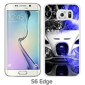 Samsung Galaxy S6 Edge Bugatti Veyron White Screen Cellphone Case Genuine and Customized Design