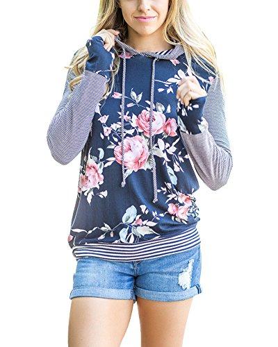 Huiyuzhi+Womens+Floral+Printed+Striped+Long+Sleeve+Hoodie+Pullover+Sweatshirts