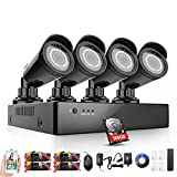 Rraycom 4 Channel 2000TVL 1080H 2.0MP Home Security Camera System DVR SMD LED Night Vision 500G Hard Drive Black Review