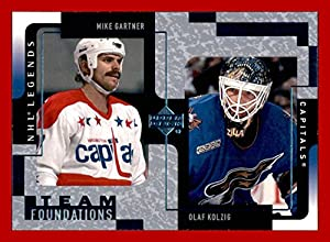 2000-01 Upper Deck Legends #132 Mike Gartner Olaf Kolzig WASHINGTON CAPITALS