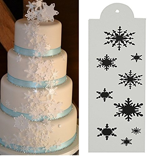 Bazaar Snowflake Side Cake Stencil Border Designer Decorating Craft Cookie Baking Tool