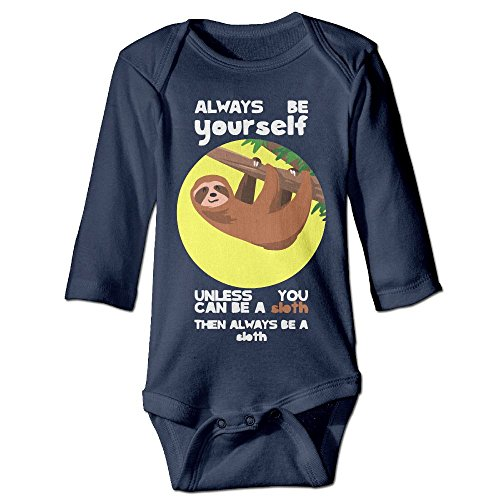 Messed Up Baby Costumes (Fashion Baby Boys & Girls Always Be Yourself Unless You Can Be A Sloth5 Long-sleeve Romper Jumpsuit)