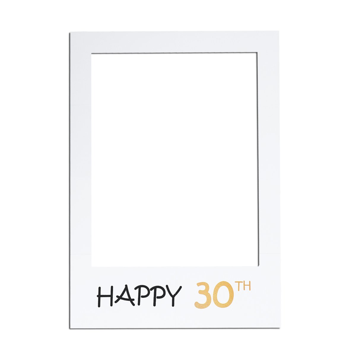 LUOEM 30e Bricolage Cadre Photo Cadre Découpes Photobooth Accessoires pour La Fête d'Anniversaire