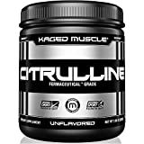 KAGED MUSCLE – L-Citrulline Unflavored Powder – 100 Servings – Enhanced Muscle Pump