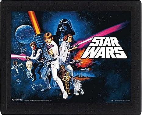 Star Wars Una Nueva Esperanza Leia Lucas Darth Vader R2D2 3D ...