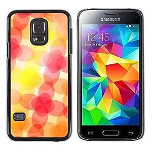Be Good Phone Accessory // Dura Cáscara cubierta Protectora Caso Carcasa Funda de Protección para Samsung Galaxy S5 Mini, SM-G800, NOT S5 REGULAR! // Jovial Joyful Happy Orange Pink