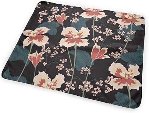 Irises Flowers 小さいながらも軽くて柔らかく快適な折り畳みが簡単なハイエンドのファッションシンプルなポップ絶妙なおむつパッド