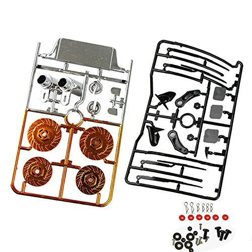 Coolplay 1/10 Body Accessory Vehicle Spare Parts Set for RC Road Car-Orange